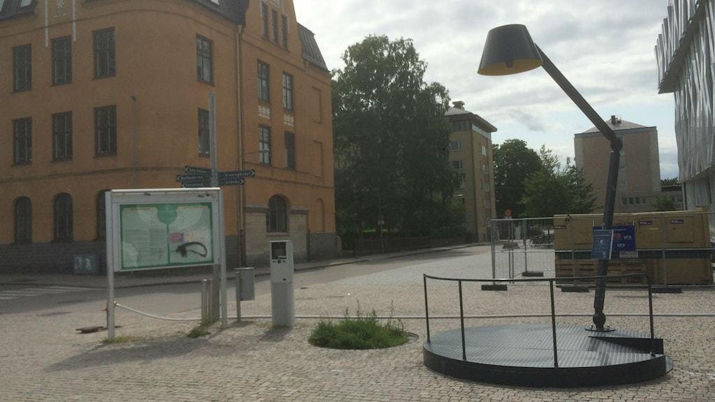 Speakers corner Vaksala torg. Foto Peter Johansson / Sveriges Radio