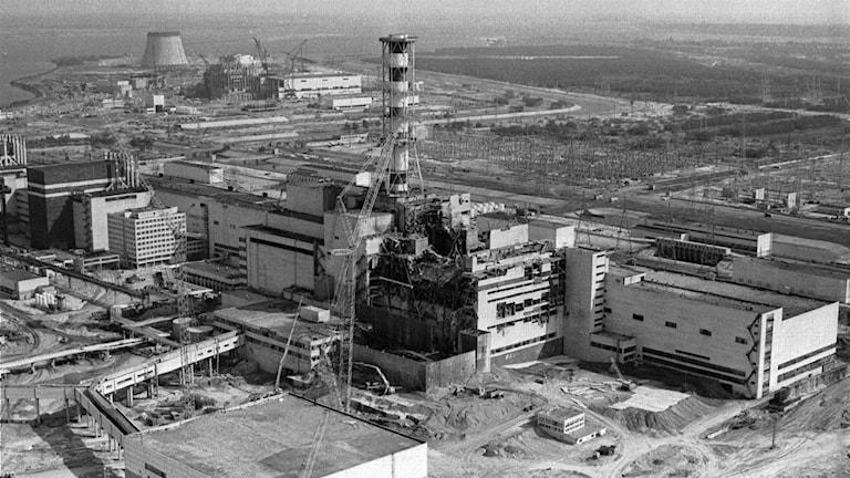 Tjernobyls reaktorer i Ukraina 1986. Foto: Volodymyr Repik/TT