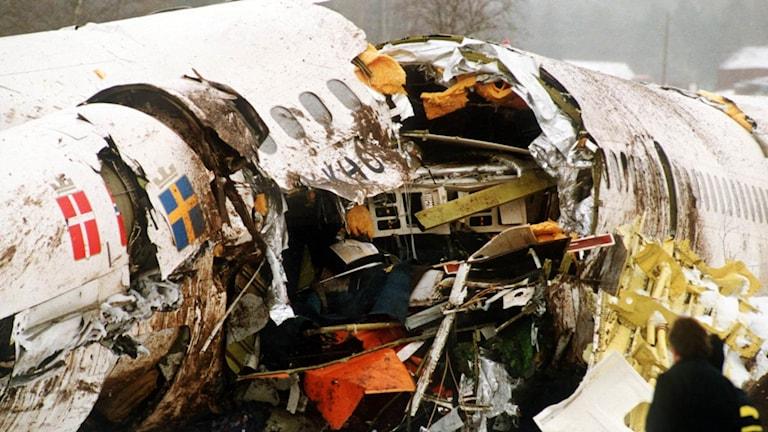 Gottrörakraschen i december 1991. Foto: Rikard Collsiöö/TT