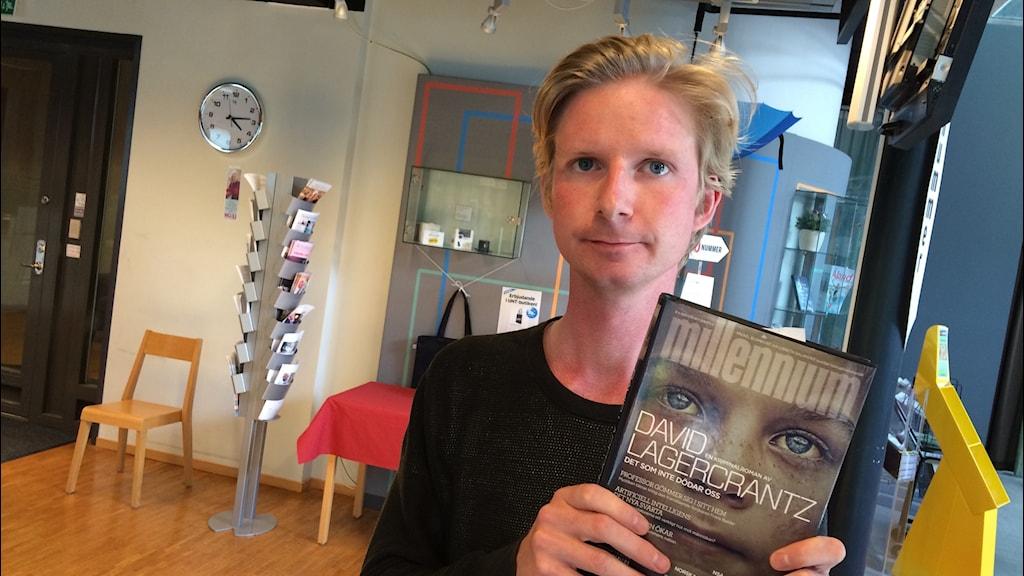Tim Andersson, recensent på UNT. Foto: Stefan Hesserud Persson / SR