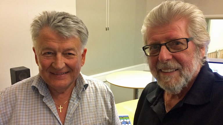 Royne Olsson och Arne Krusing. Foto: Bosse Pettersson/Sveriges Radio
