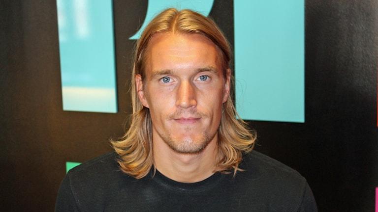 Kim Skoglund, spelare i Sirius fotboll. Foto: Erik Thyselius/Sveriges Radio
