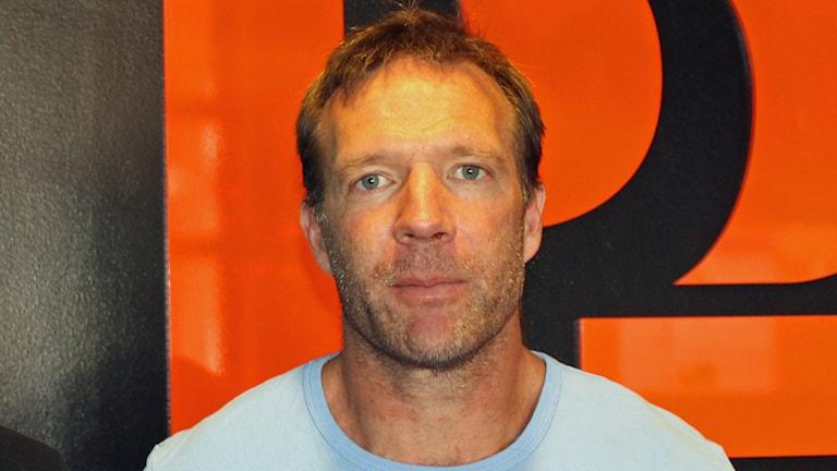 Kim Bergstrand, tränare i Sirius fotboll. Foto: Erik Thyselius/Sveriges Radio