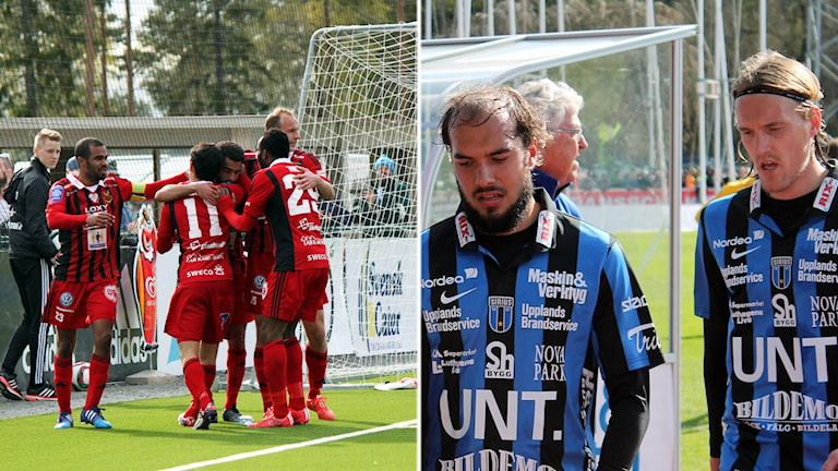 Östersunds spelare och Sirius spelare. Foto och montage: Sveriges Radio
