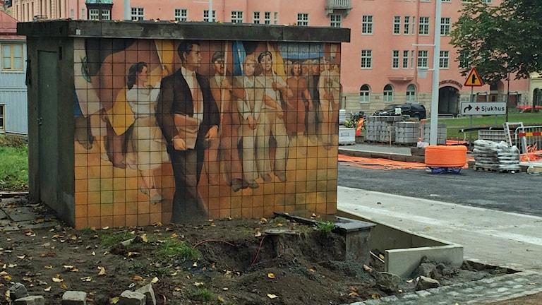 DDR-Kunst in Uppsala. Foto: Aila Stefansdotter-Franck/Sveriges Radio