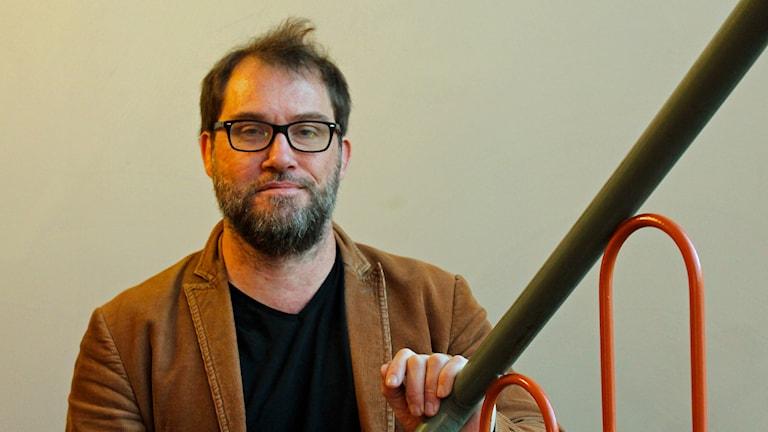 Arwid Lund, Doktor i biblioteks och informationsvetenskap vid Uppsala Universitet. Foto: Nils Engvall/Sveriges Radio