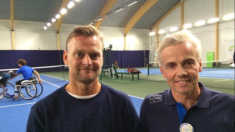 Niclas Rodhblom (förbundskapten) och Peter Rejmer (tävlingsanordnare). Foto: Stefan Hesserud-Persson/Sveriges Radio