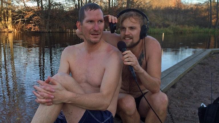 P4 Upplands Christer Engqvist och Nils Engvall. Foto: Nils Lundin/Sveriges Radio