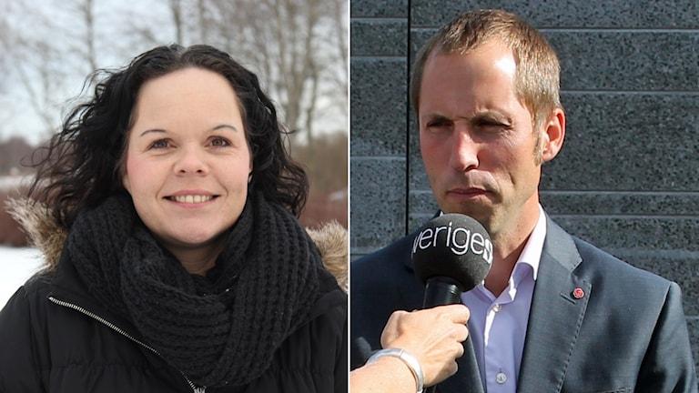 Marie Larsson (S) i Älvkarleby och Erik Pelling (S) i Uppsala. Foto: Älvkarleby kommun och Sveriges Radio. Montage: Sveriges Radio