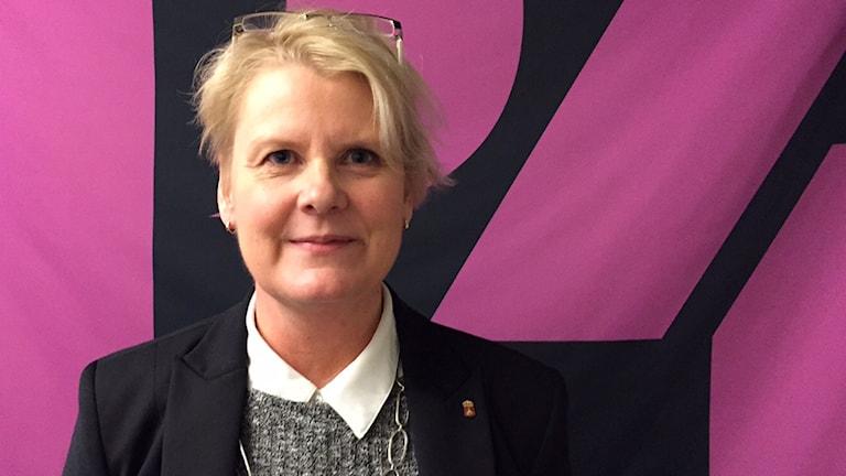 Pirjo Nordqvist, tillförordnad försvarsdirektör på länsstyrelsen. Foto: Niklas Clarkson.