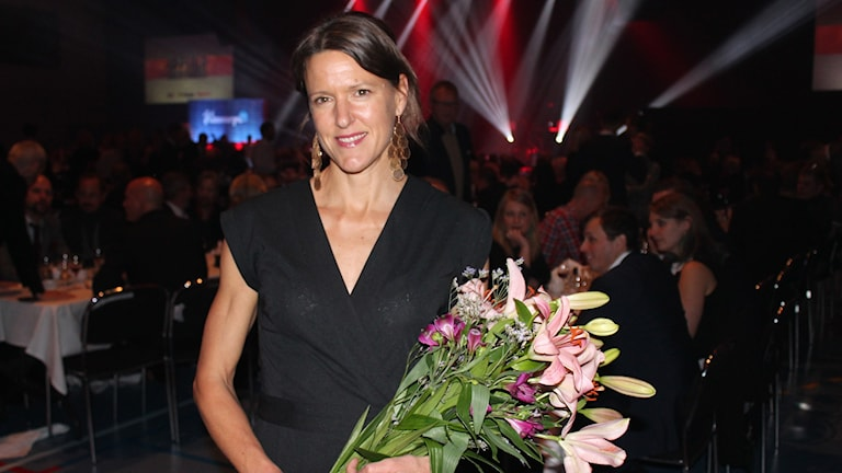 Annika Billstam, vinnare av P4 Upplands sportpris 2015. Foto: Erik Thyselius/Sveriges Radio