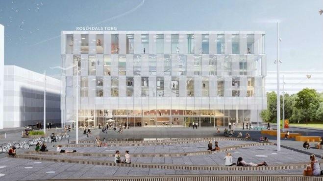 Nya multiarenan i Rosendal. Bild: Rosendals fastigheter