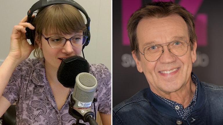 Åsa Wistedt och Björn Skifs. Foto och montage: Sveriges Radio