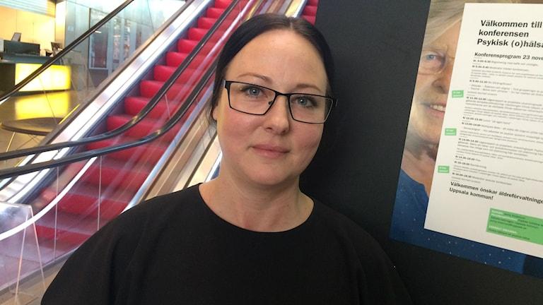 Jenny Söderlund som är huvudprojektledare. Foto: Jonas Ahlman/Sveriges Radio.