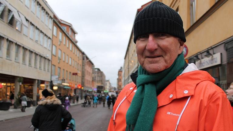 Sören Ekdahl på nya paradgatan. Foto: Cinna Gärdenfors