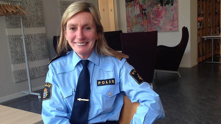 Polischef Carin Götblad. Foto: Tomas Magnusson/Sveriges Radio