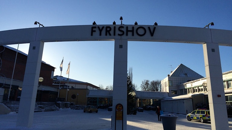 Ingången till Fyrishov. Foto: Nina / SR