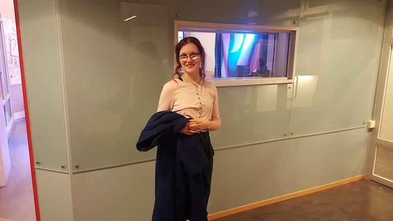 Sylvia Krupke från Retroarmén i Uppsala. Foto: Mattias Persson/Sveriges Radio