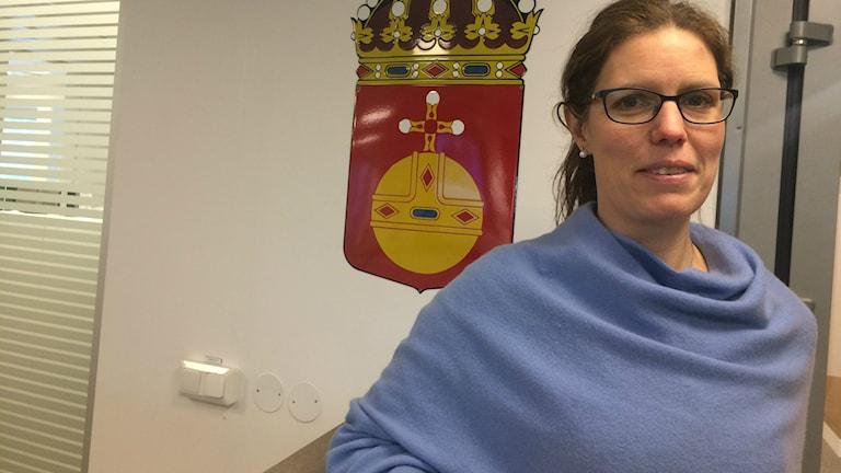Helena Brunnkvist är miljömålssamordnare på länsstyrelsen i Uppsala län. Foto: Jonas Ahlman/Sveriges Radio.