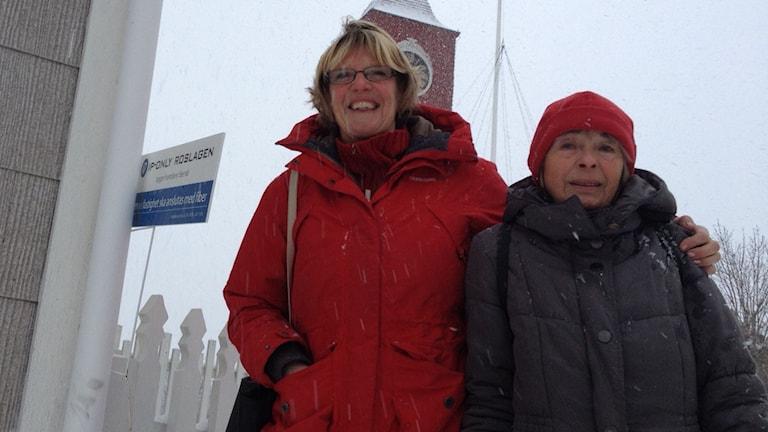 Kristin Holmgren och Ann-Christine Sundgren. Foto: Ulla de Verdier/SR