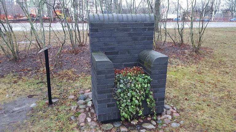 Minnesplats för judarna som kom till Uppsala efter kriget. Foto: Mattias Persson/Sveriges Radio