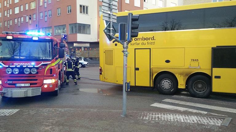 Person påkörd av buss. Foto: Alexander Weimar / SR
