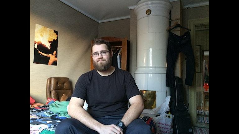 Bo Sporre, 27, bor hemma hos föräldrarna. Foto: Mona Wahlund/Sveriges Radio