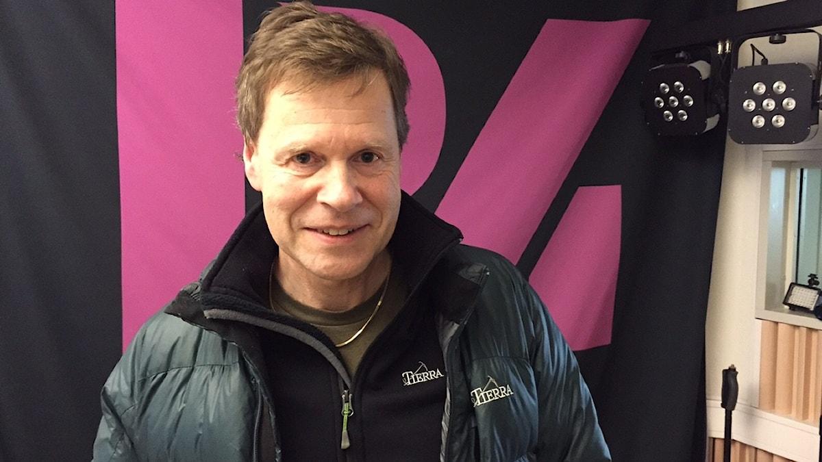 Skridskoåkaren Tomas Gustafson Foto:Niklas Clarkson/Sveriges radio