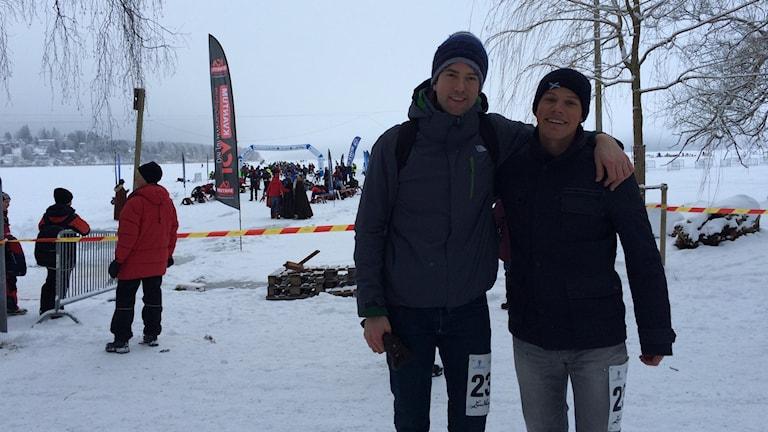 Dirk Visser och Beleaguered van Raalten är två av de Holländska deltagare som åker Vikingarännet i dag. Foto Aila Stefansdotter Franck