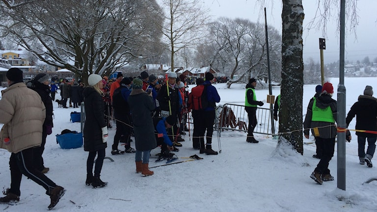 skridskor viking sigtuna is snö vinter lopp