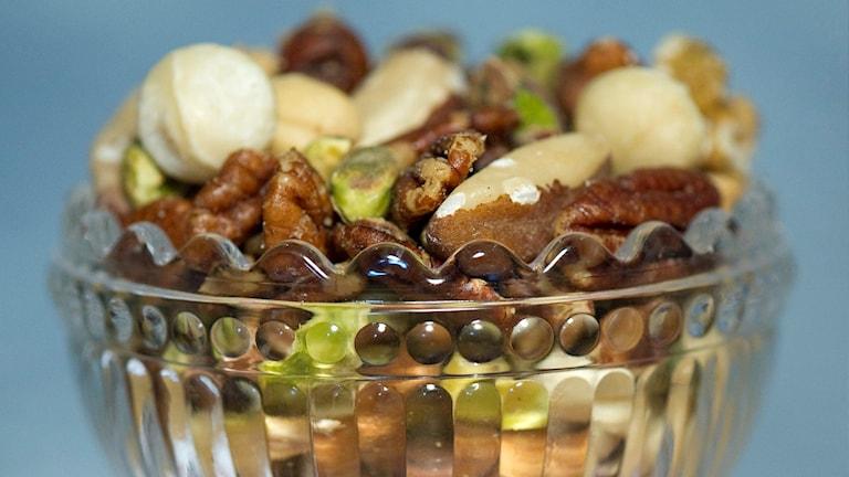 En skål med nötter Foto: Leif R Jansson/Scanpix