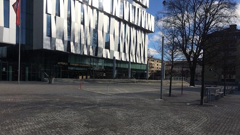 Platsen vid UKK väntar på ett namn. Foto: Claudia Klobas/Sveriges Radio
