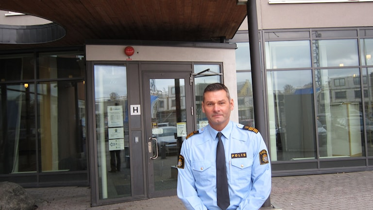 Michael Fetz, biträdande regionpolischef. Foto: Mårten Nilsson, Sveriges Radio