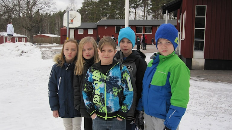 Elever på Åkerlänna skola. Foto Martin Hult/SR