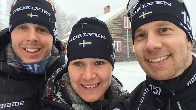 Britta Johansson-Norgren tillsammans med Fredrik Byström och Markus Ottosson. Foto: Privat