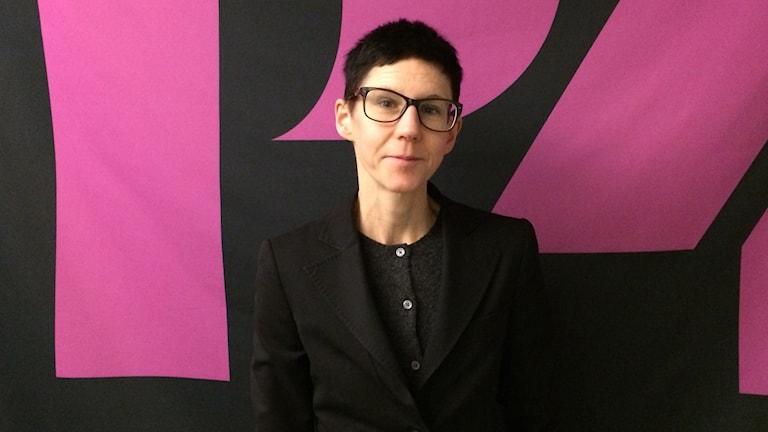 Stina Oscarson, dramatiker, manusförfattare och regissör.