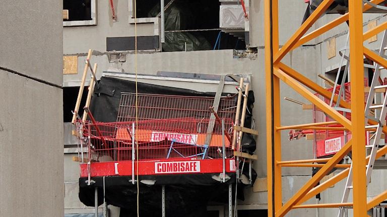 Den rasade balkongen i Rosendal i Uppsala