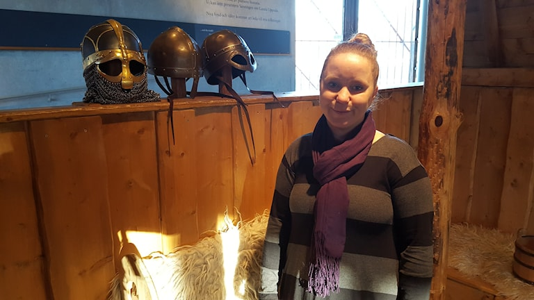 Linda Klementsson på Gamla Uppsala museum. Foto: Mattias Persson/Sveriges Radio