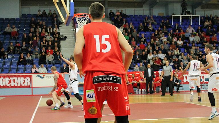 Uppsala basket mot Luleå 2016.