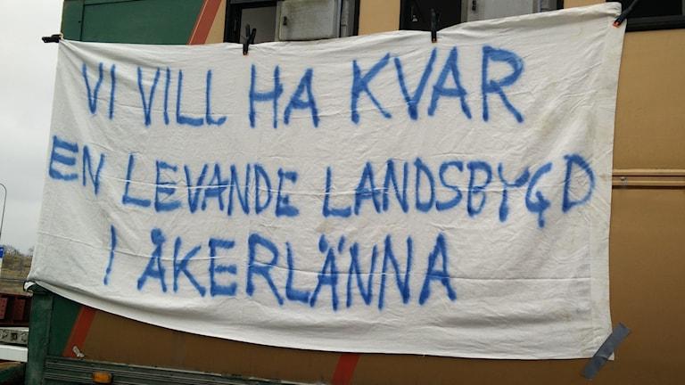 Banderoll för Åkerlänna