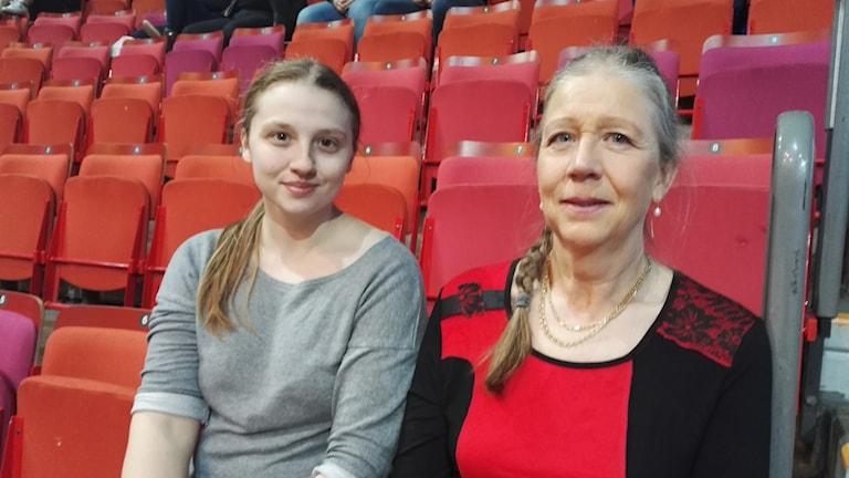 Linda och Kerstin Johansson från Enköping, på plats på Gotheburg horse show. Foto: Anders Hagström/SR