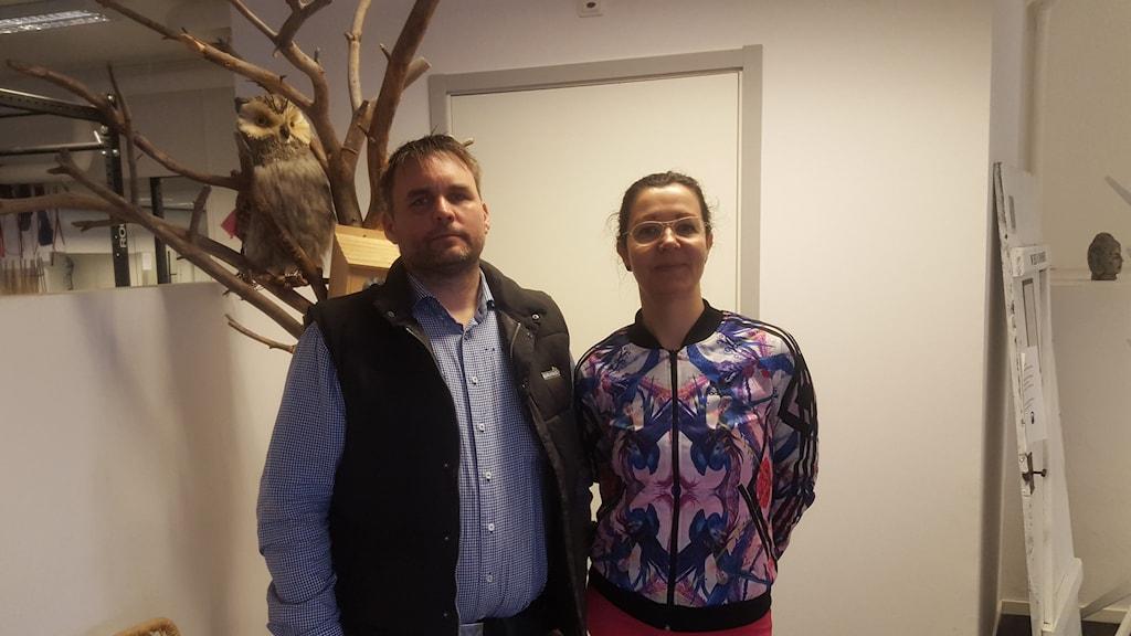 Henrik Sandahl och Leila Nyström. Foto: Mattias Persson/Sveriges Radio