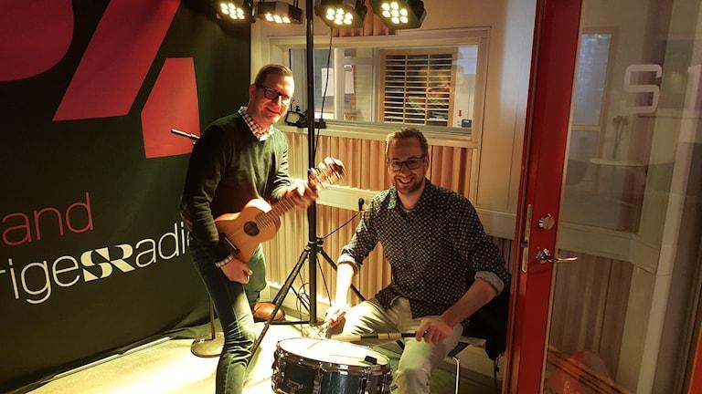 Christer och Mattias. Foto: Ellen Zettergren/Sveriges Radio