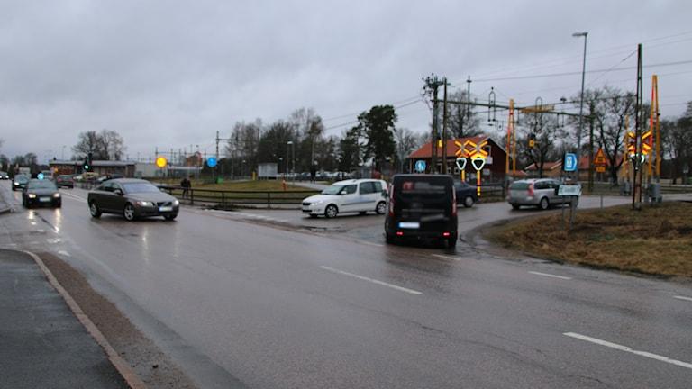 Korsningen i Morgongåva.
