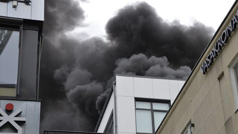 Brand i restaurang i centrala Uppsala. Foto: Roger Schwalbe
