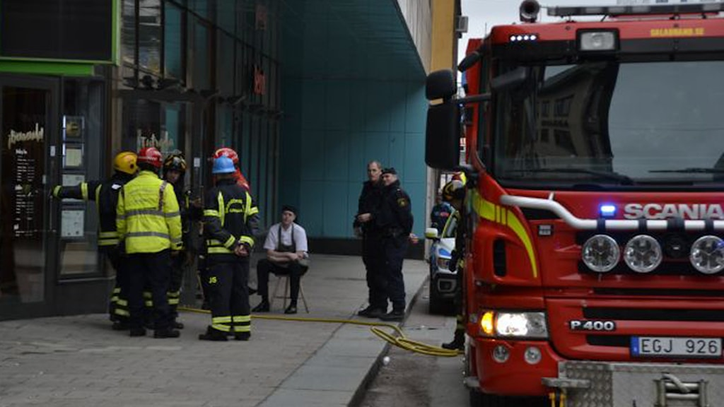 Brand i La Parilla, Uppsala. Foto: Roger Schwalbe