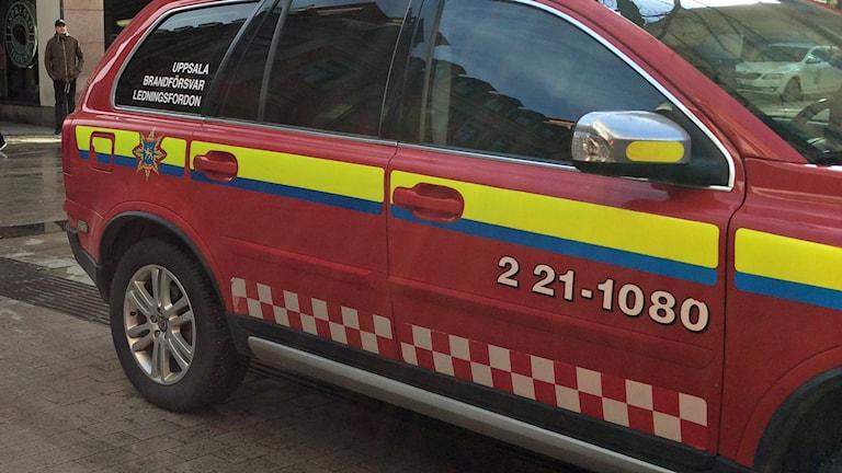 Ledningsfordon Uppsala brandförsvar.