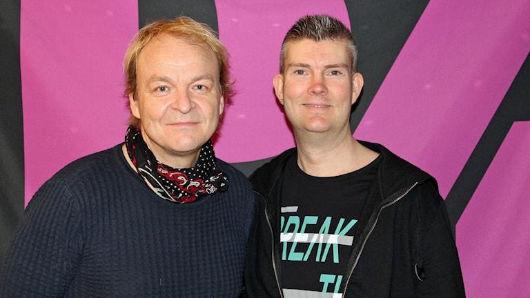 Jari Kujansuu och Martin Lindberg i bandet TMMB (Too Much Monkey Business)