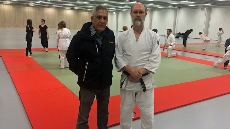 Uppsala taekwondos ordförande Mohammad-Ali Islamian och Uppsala budoklubbs ordförande Karl Åstrand hoppas att det blir bättre förutsättningar i Fyrishov i höst.