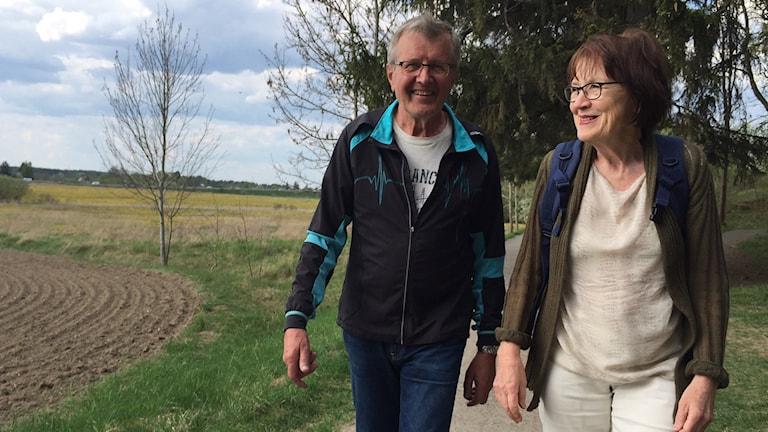 Ove Lundgren och boende i närheten Barbro Gerdén i föreningen Gröna Sköna Stabby